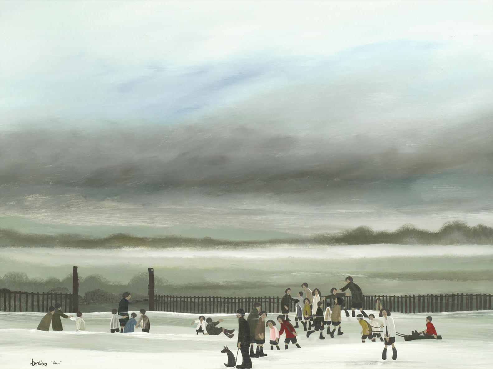 Brian Shields - Children Playing In The Snow-