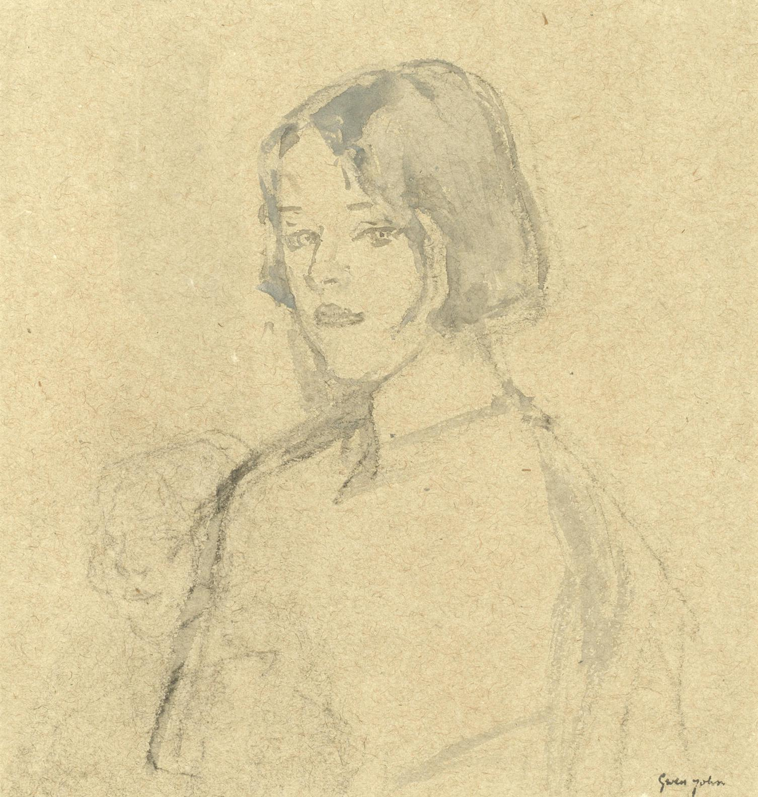 Gwen John - Young Girl With Bobbed Hair-1919