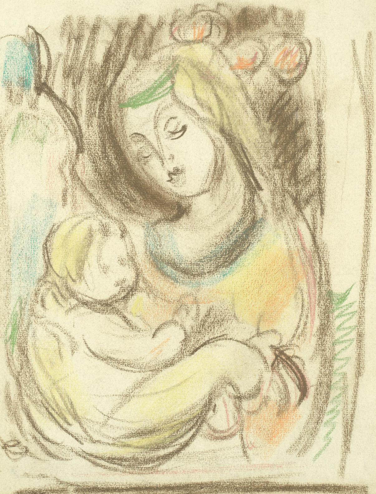 Matthew Smith - Madonna And Child-