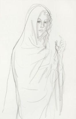 Augustus Edwin John - Woman In A Shawl