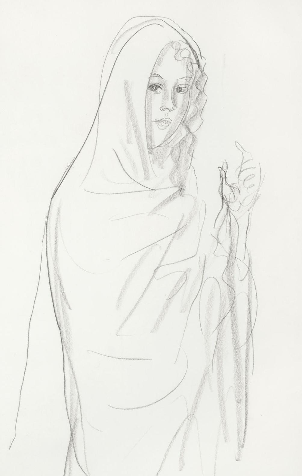 Augustus Edwin John - Woman In A Shawl-