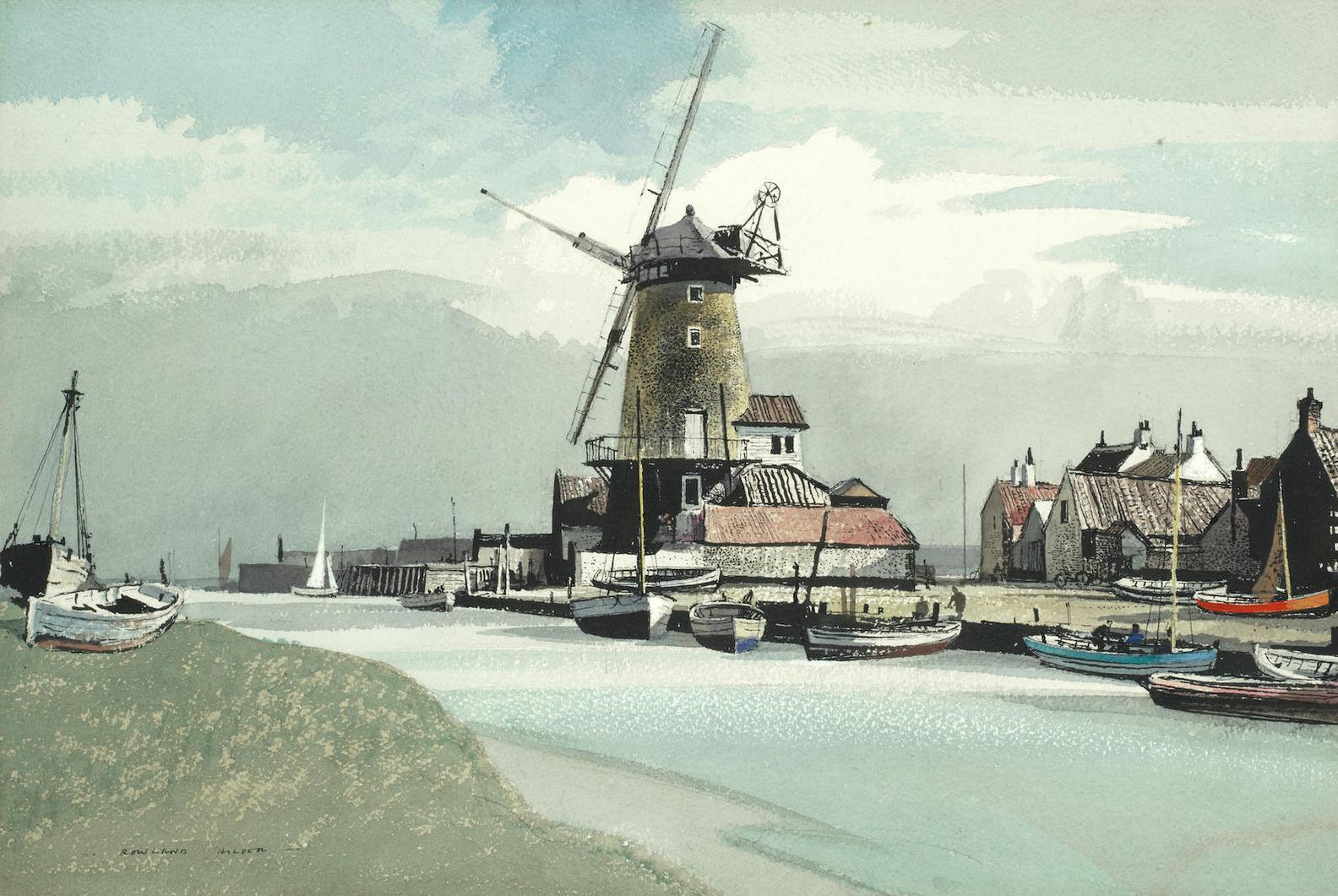 Rowland Hilder - Cley Mill, Norfolk-