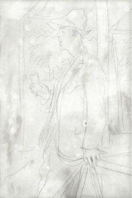 Augustus Edwin John - Portrait Study Of Trelawny Dayrell-Reed