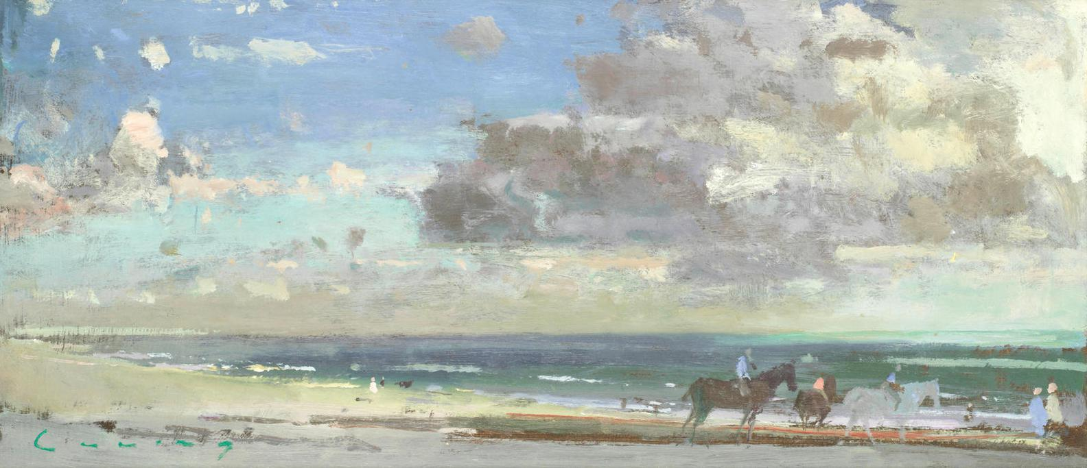 Frederick Cuming N.E.A.C. - Camber Sands With Horse Riders-