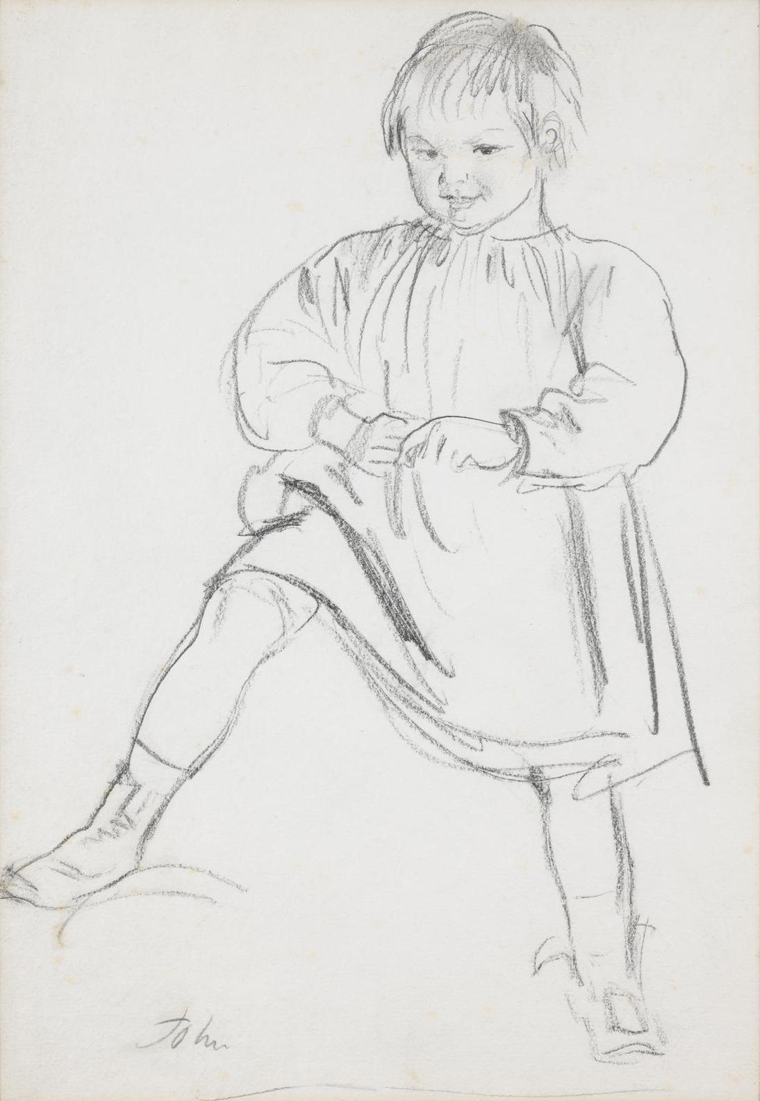 Augustus Edwin John - Study Of The Artists Son, Caspar-