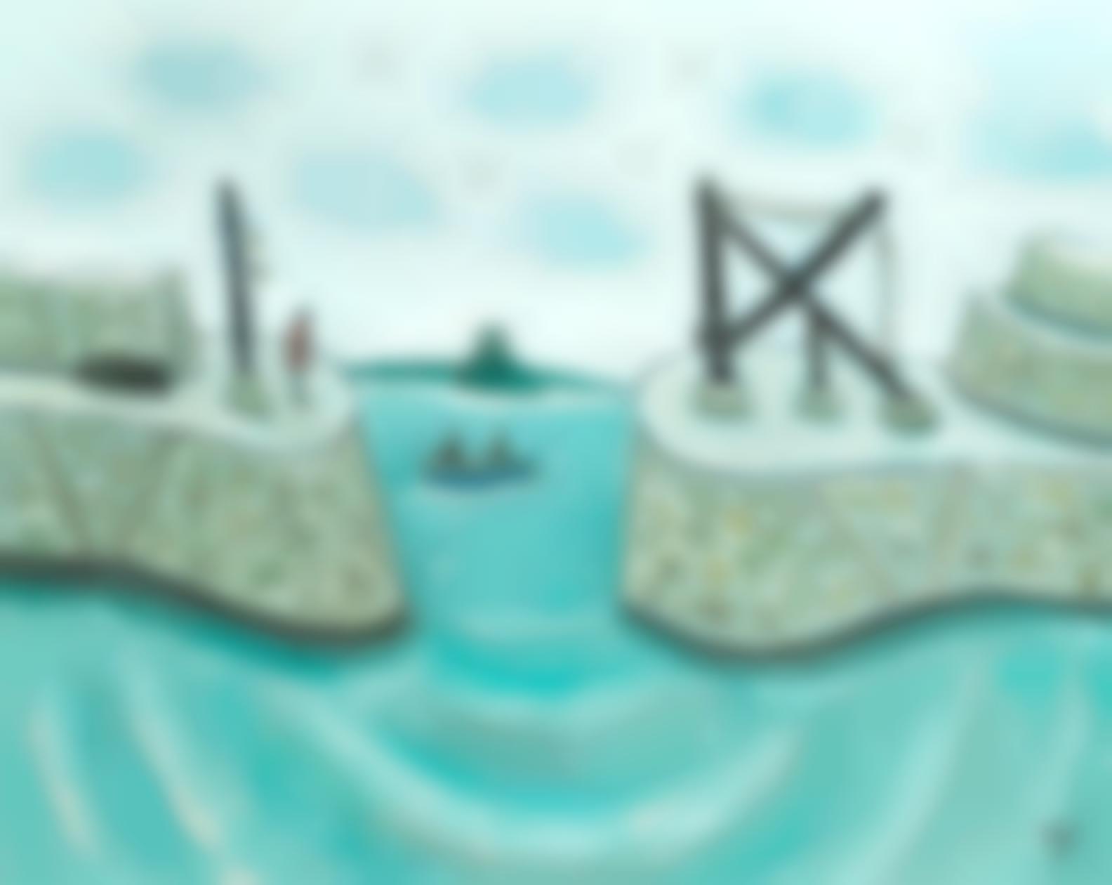 Joan Gillchrest - Crane Entrance To Mousehole Harbour-