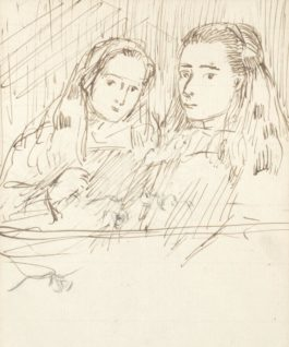 Augustus Edwin John - The Sisters-1898