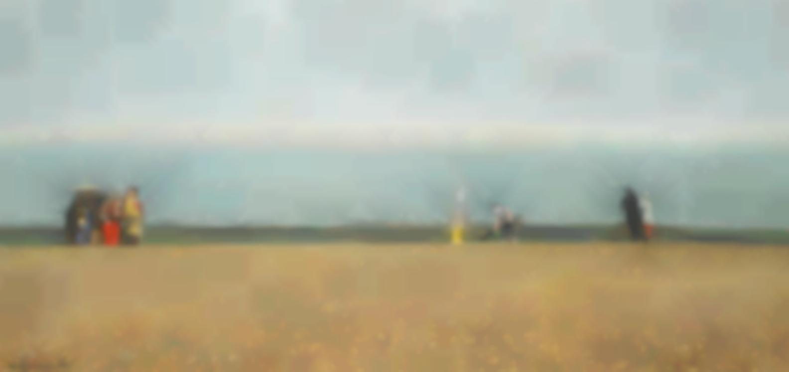 Richard Eurich - Burning Wreckage On The Beach-1985