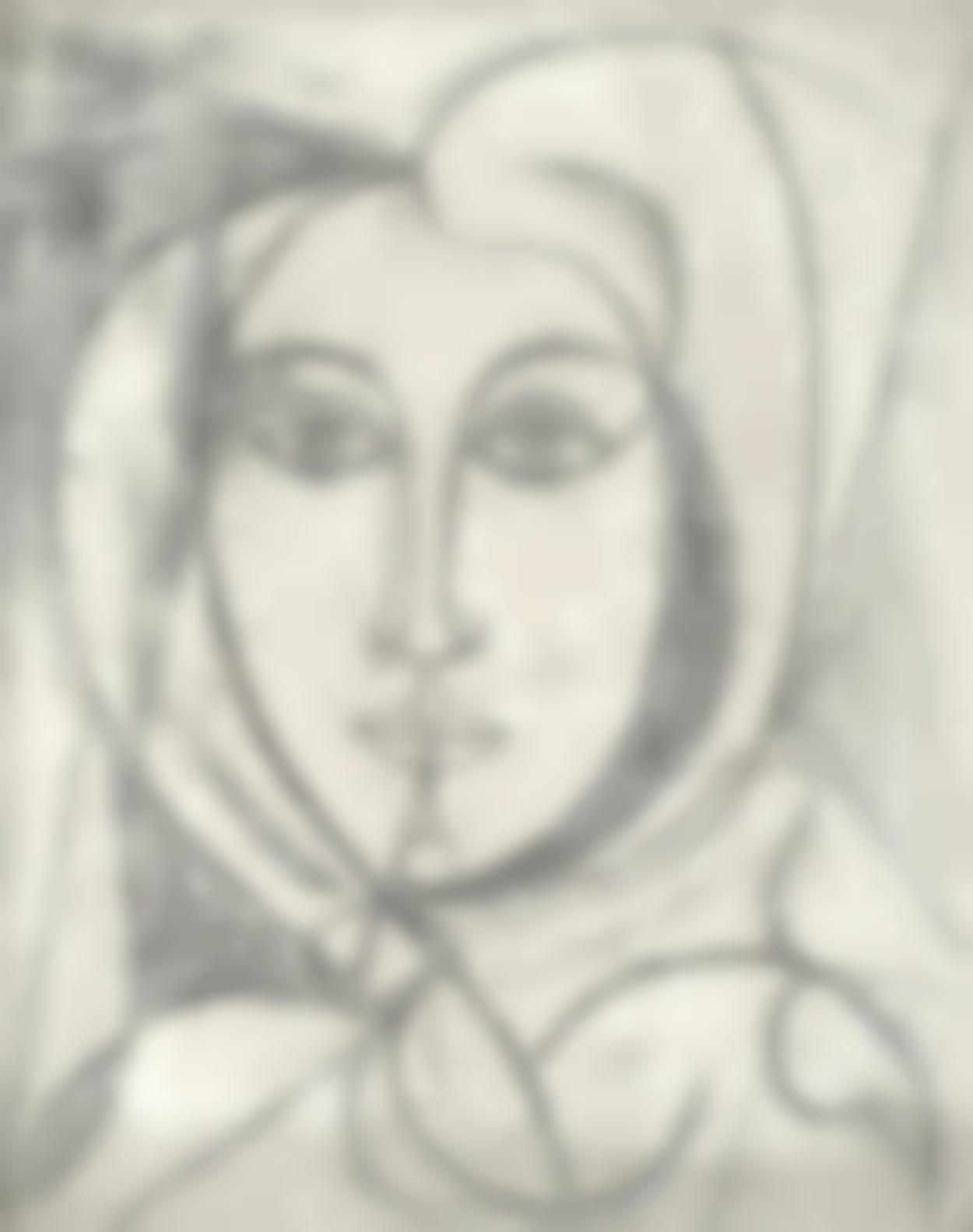 John Craxton - Portrait Of A Woman-1949