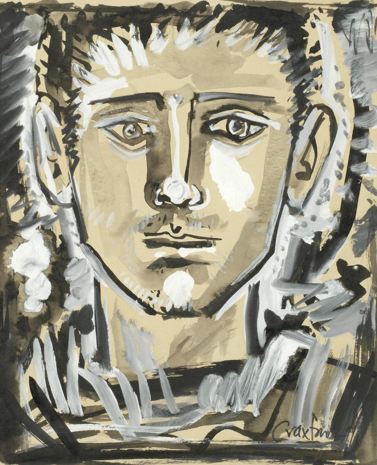 John Craxton - Portrait Of A Man-