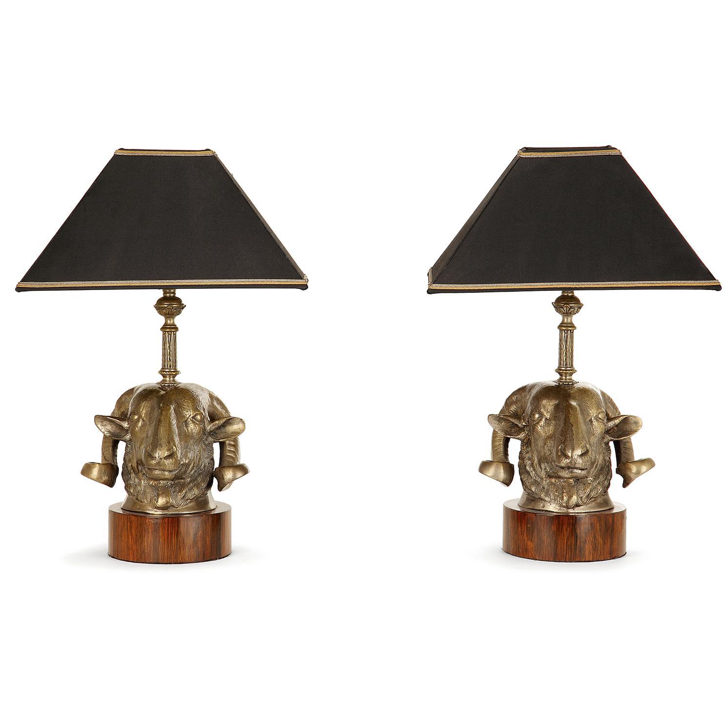 Paire De Lampes-