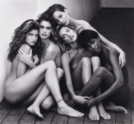 Herb Ritts-Stephanie, Cindy, Christy, Tatjana, Naomi, Hollywood-1989