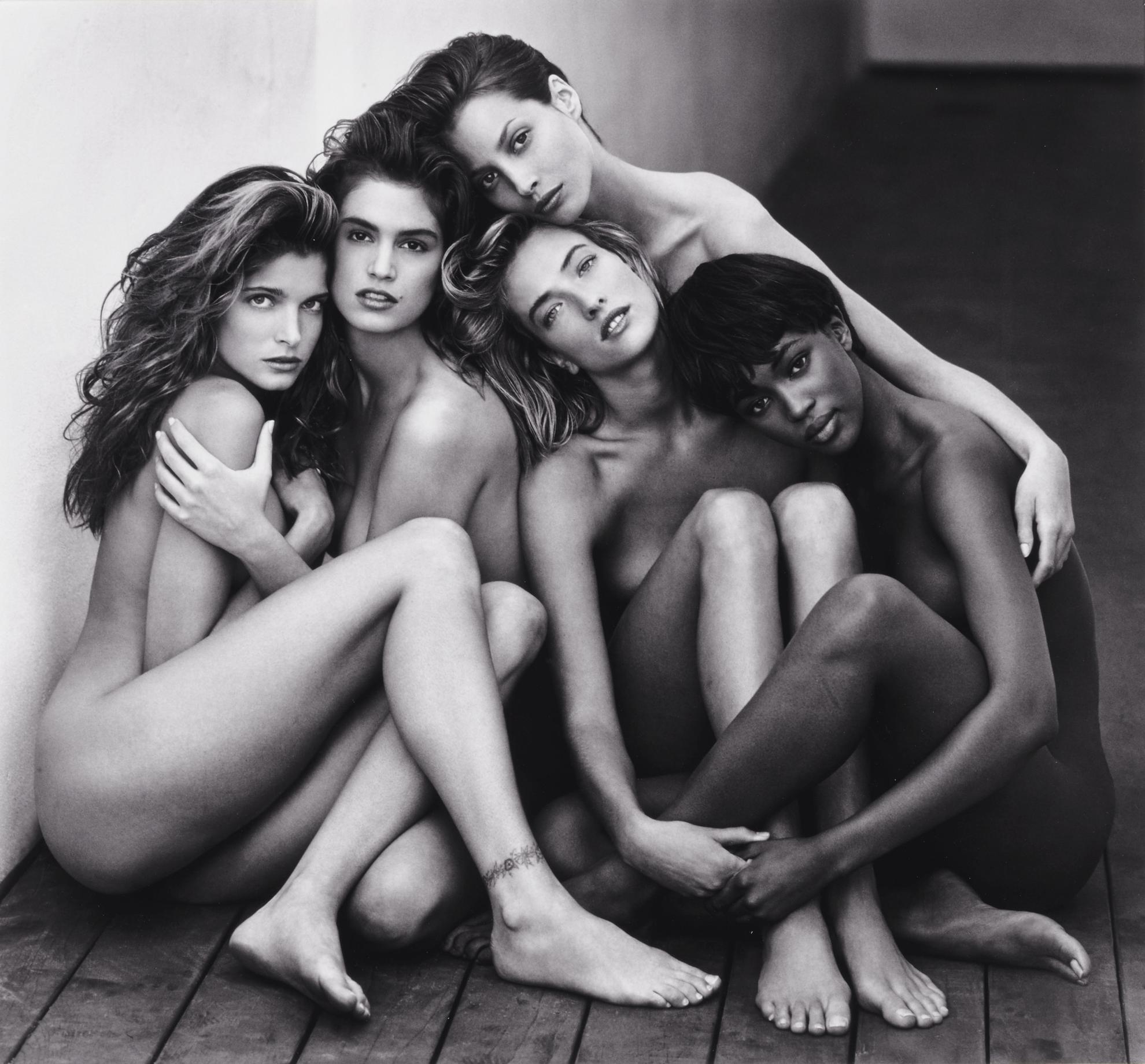 Herb Ritts-Stephanie, Cindy, Christy, Tatjana, Naomi, Hollywood-1989