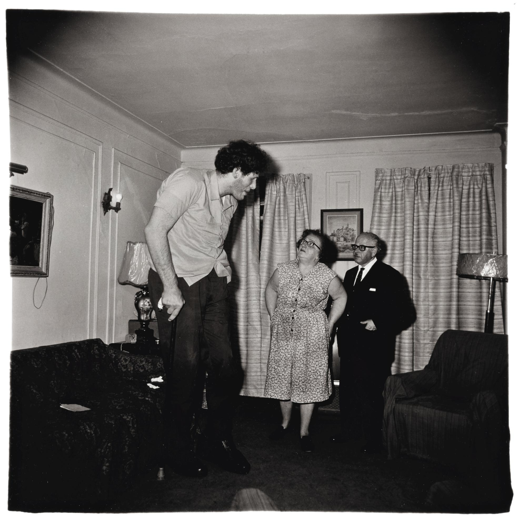 Diane Arbus-A Jewish Giant At Home With His Parents In The Bronx, N. Y.-1970