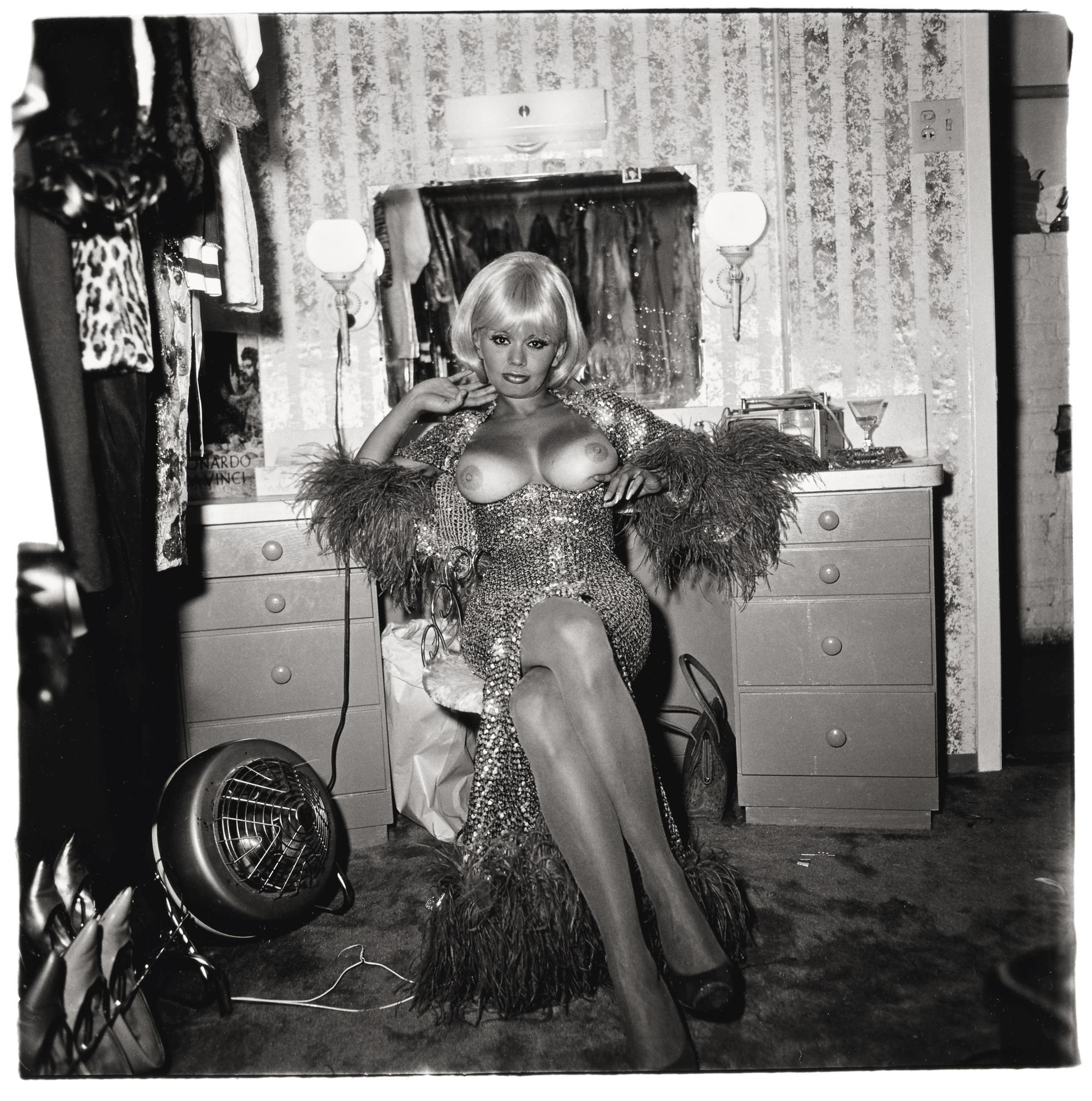 Diane Arbus-Topless Dancer In Her Dressing Room, San Francisco, Cal.-1968