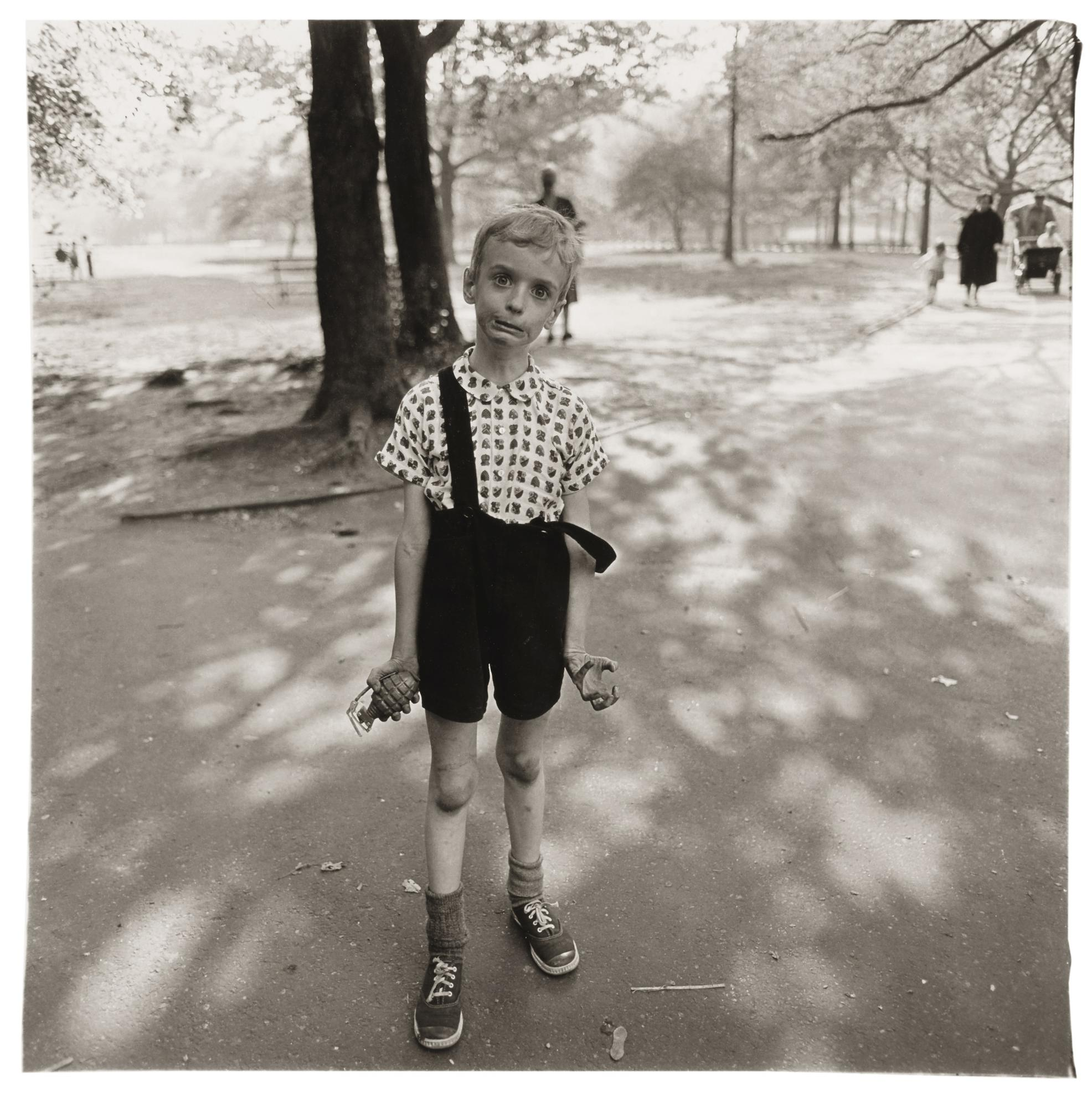 Diane Arbus-Child With A Toy Hand Grenade In Central Park, N. Y. C.-1962