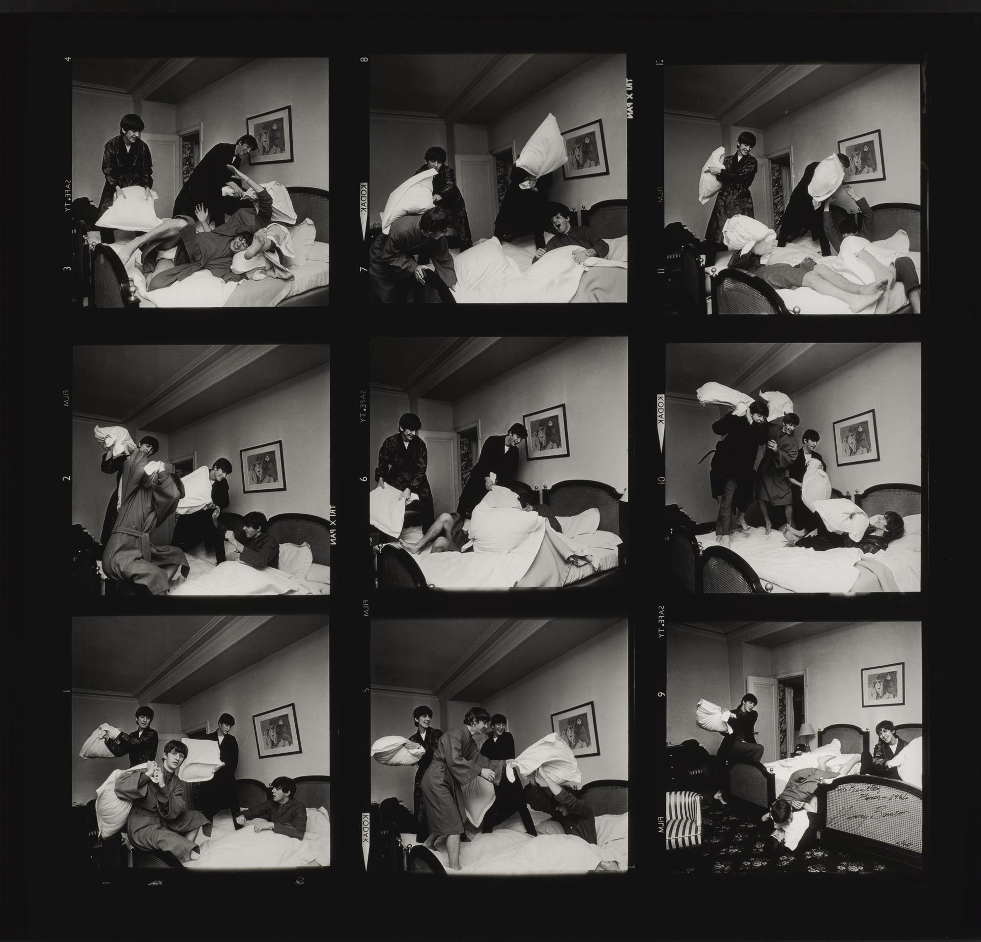 Harry Benson - The Beatles, Paris (Pillow Fight)-1964