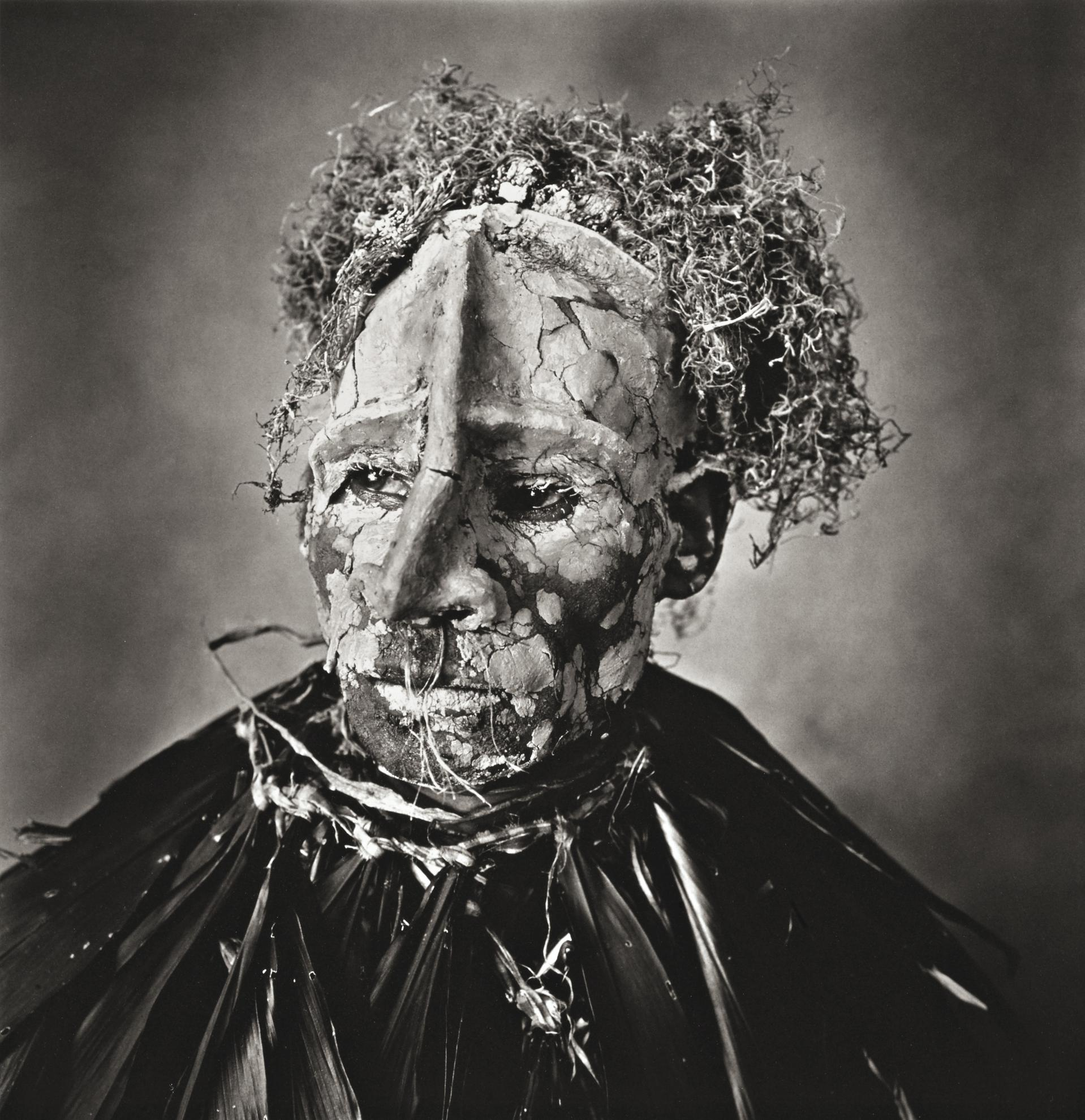 Irving Penn-Man With Pink Face, New Guinea-1970
