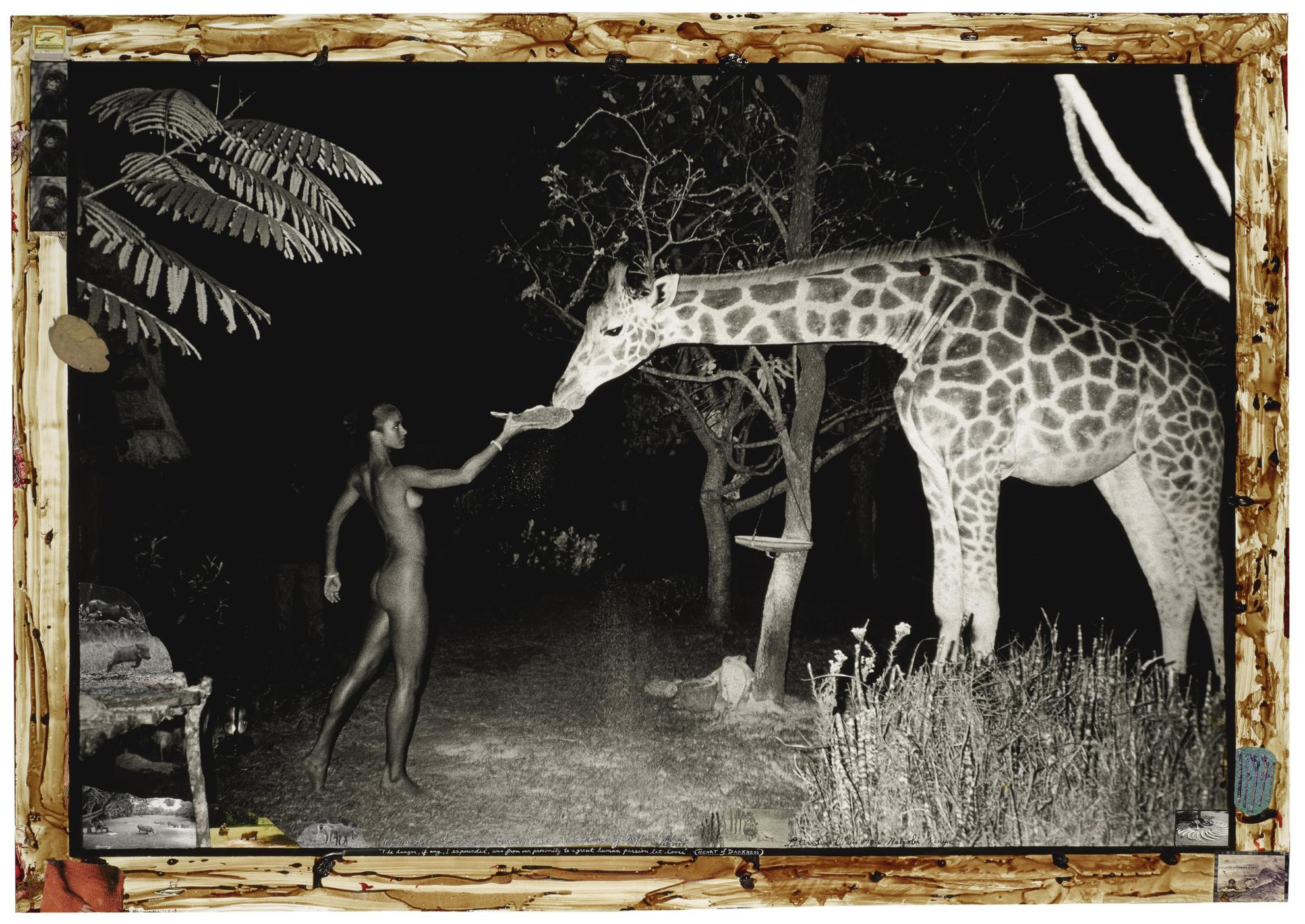 Peter Beard-Hog Ranch Front Lawn, Night Feeder (2:00 Am) With Maureen Gallagher & Mbuno, Feb. 1987-1987