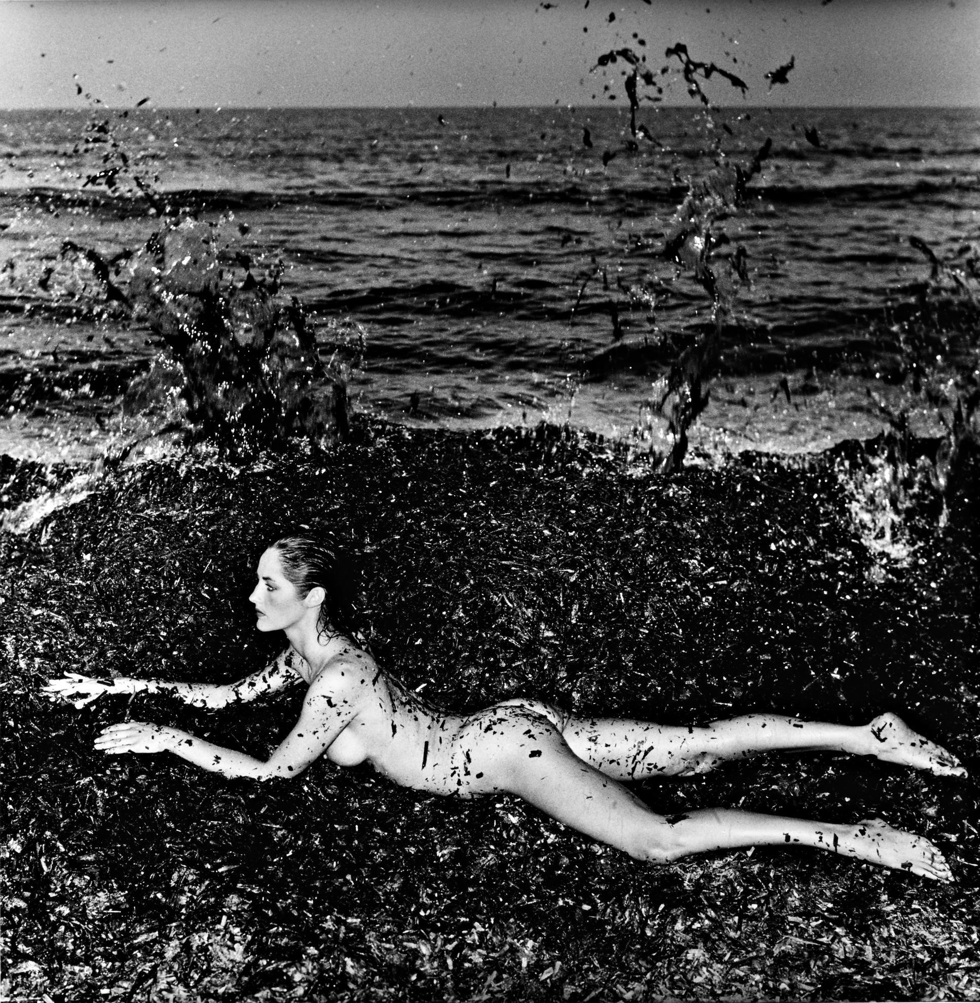 Helmut Newton-Nude In Seaweed Saint Tropez-1981
