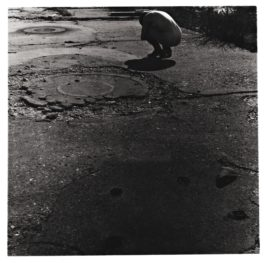 Francesca Woodman-Untitled, Providence, Rhode Island (Self-Portrait, Nude Crouching On Sidewalk)-1977