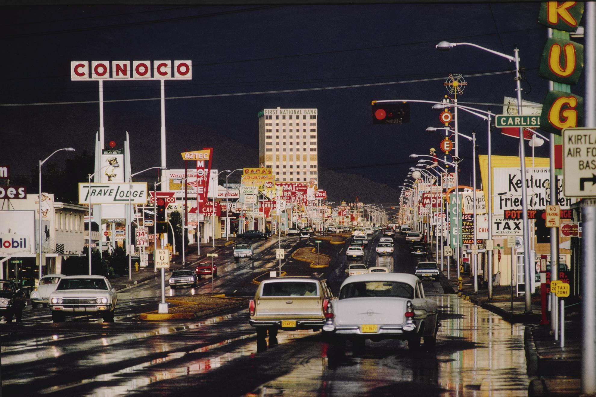 Ernst Haas-Route 66, Albuquerque, N.M.-1969