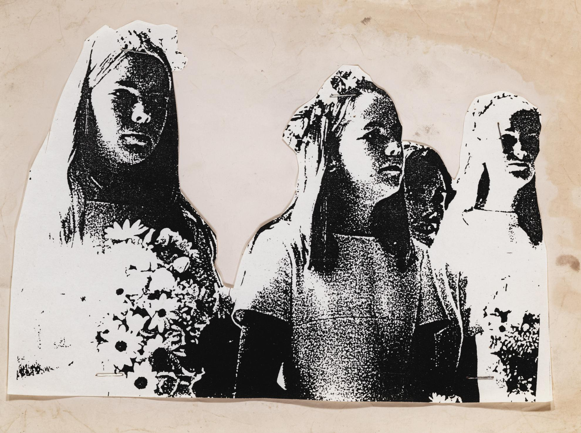 Cady Noland-Untitled Xerox Cut-Out (Patty In Church)-1989