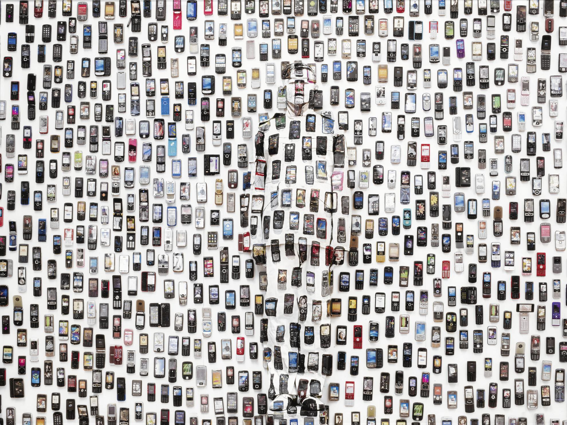 Liu Bolin-Hiding In The City: Mobile Phone-2012