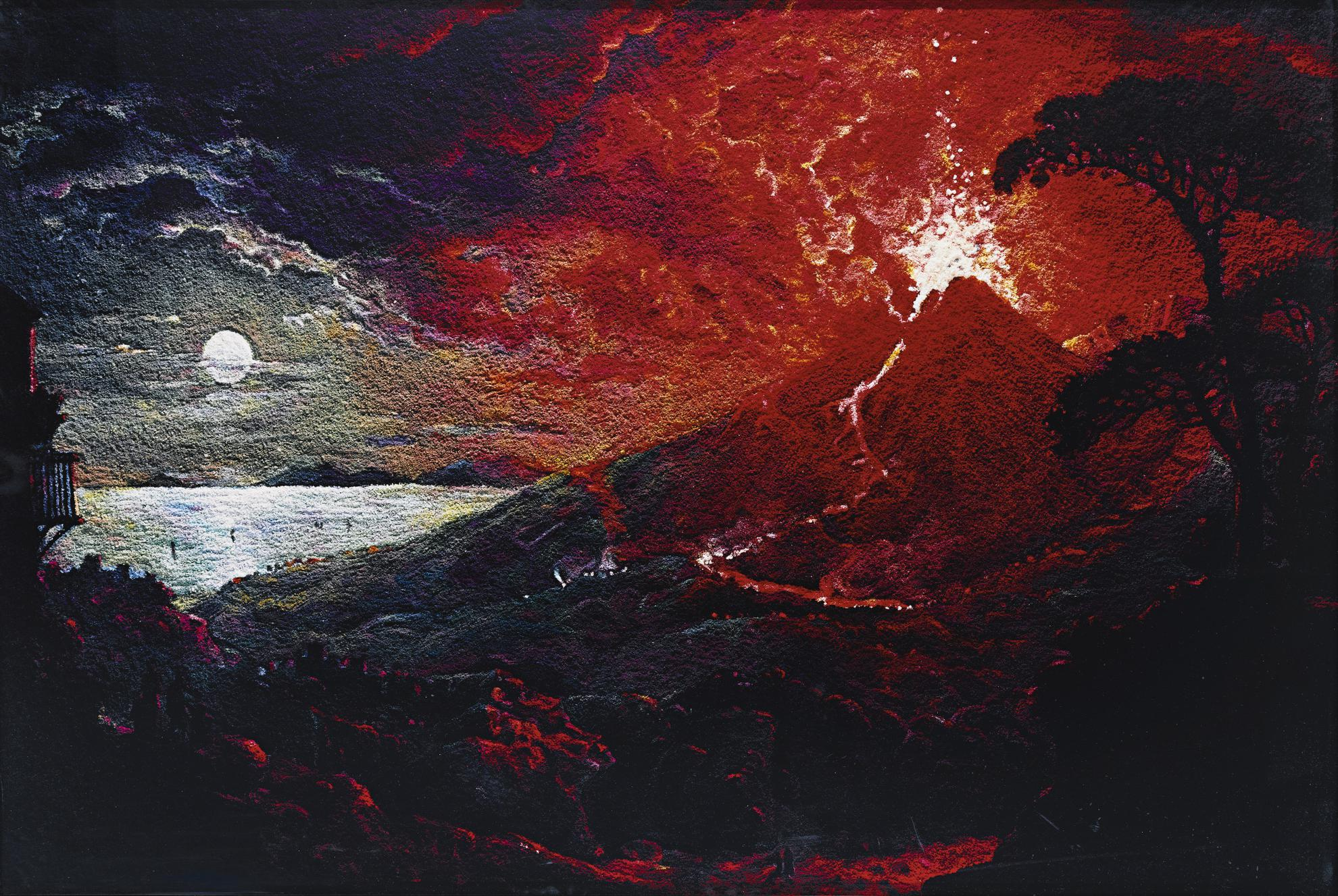 Vik Muniz-The Eruption Of Mount Vesuvius, After Sebastian Pether (From Pictures Of Pigment)-2007