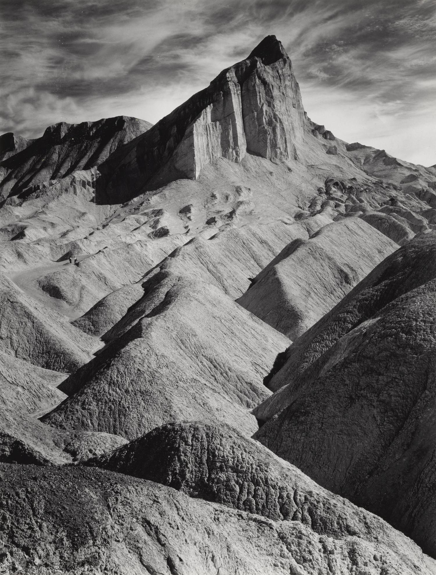 Ansel Adams-Manley Beacon From Golden Canyon, Death Valley National Monument, Cal.-1952