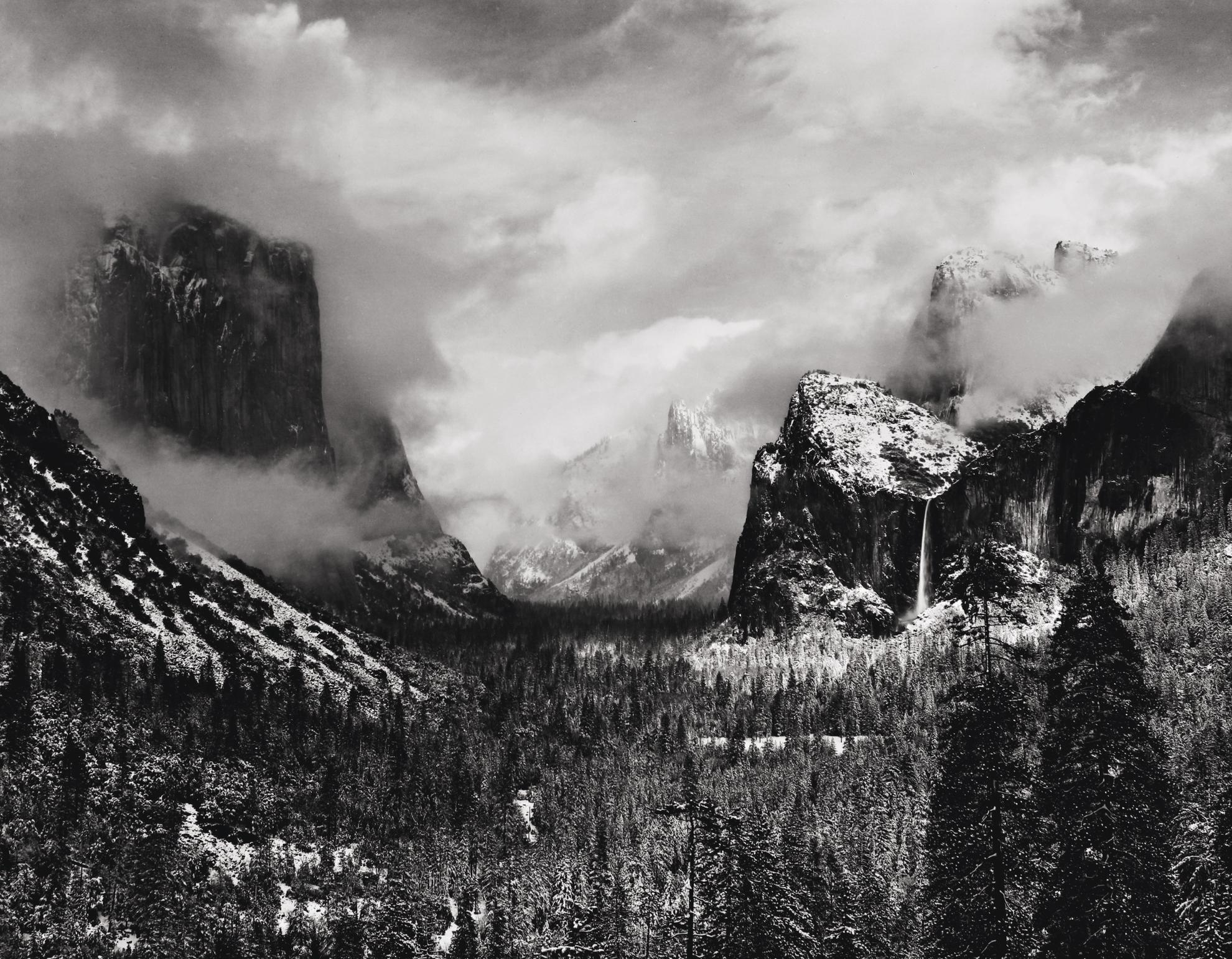 Ansel Adams-Winter Storm, Yosemite Valley (Clearing Winter Storm)-1937