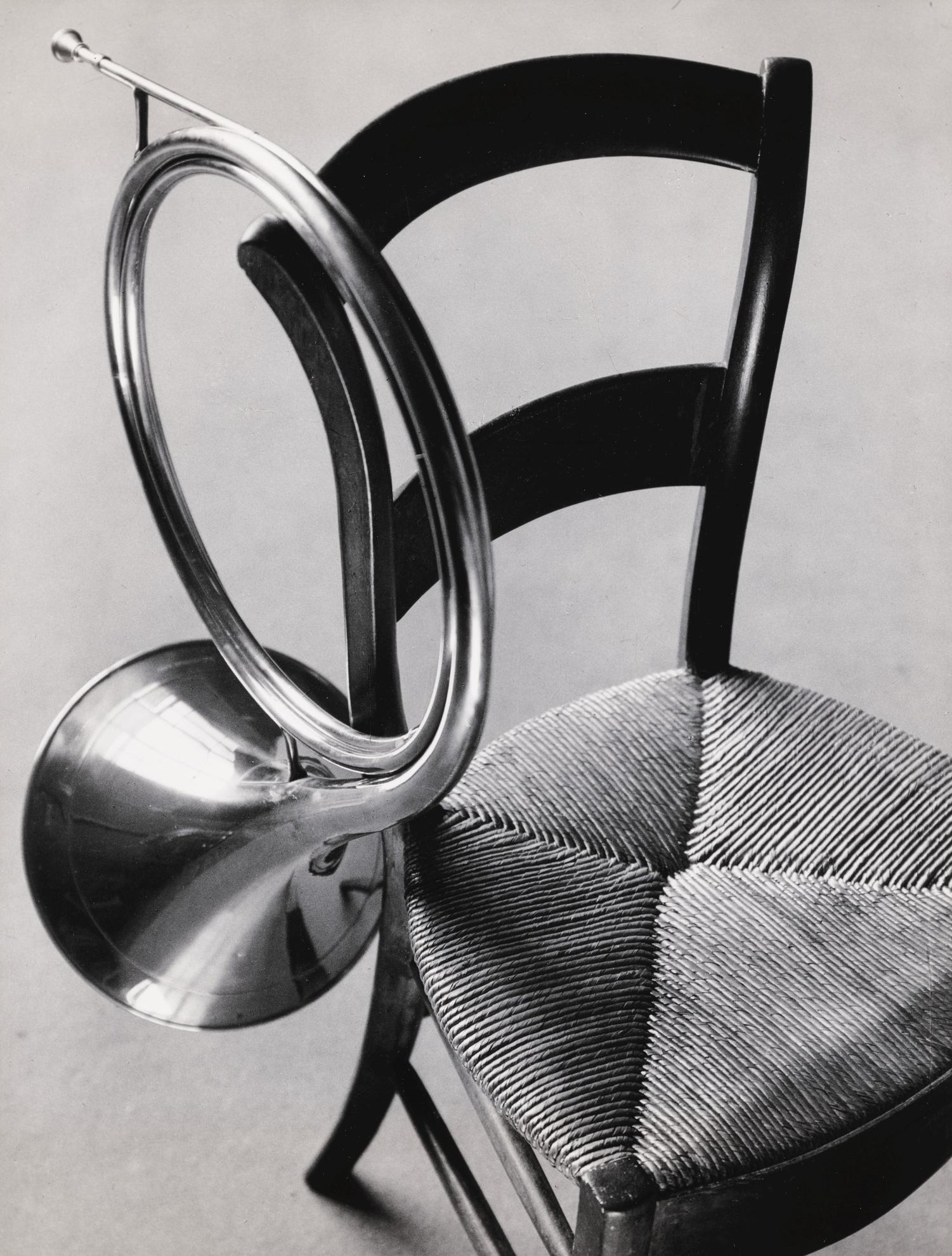 Andre Kertesz-Chair And French Horn, Paris-1936