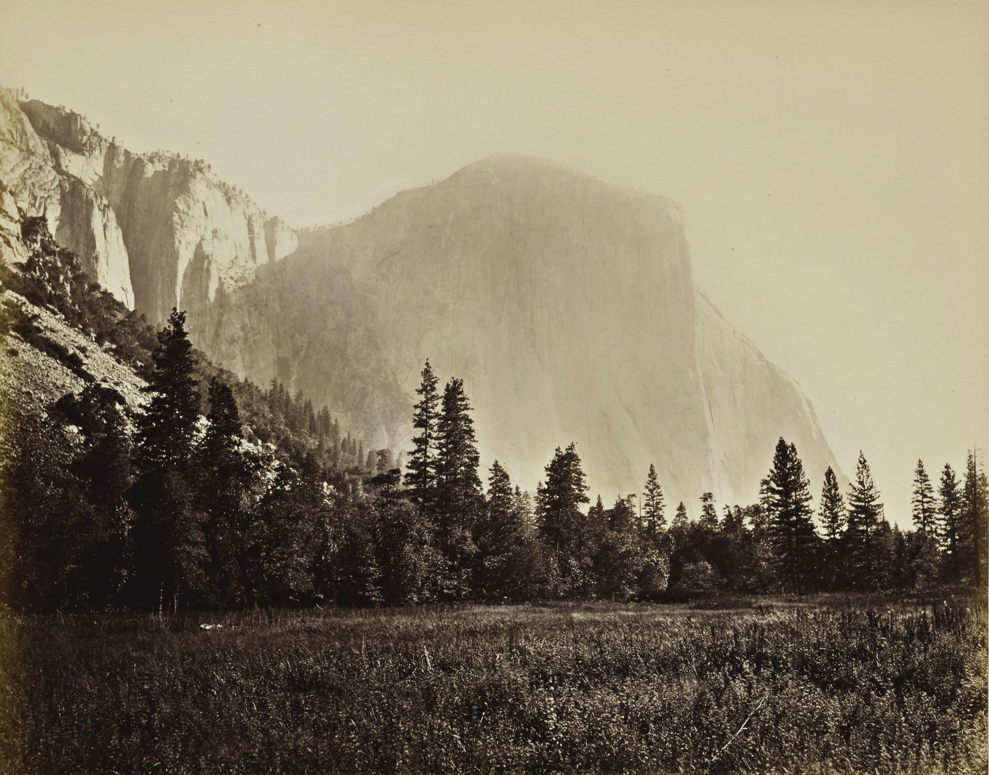 Carleton E. Watkins-El Capitan 3600 Ft. (Yosemite Valley)-1861