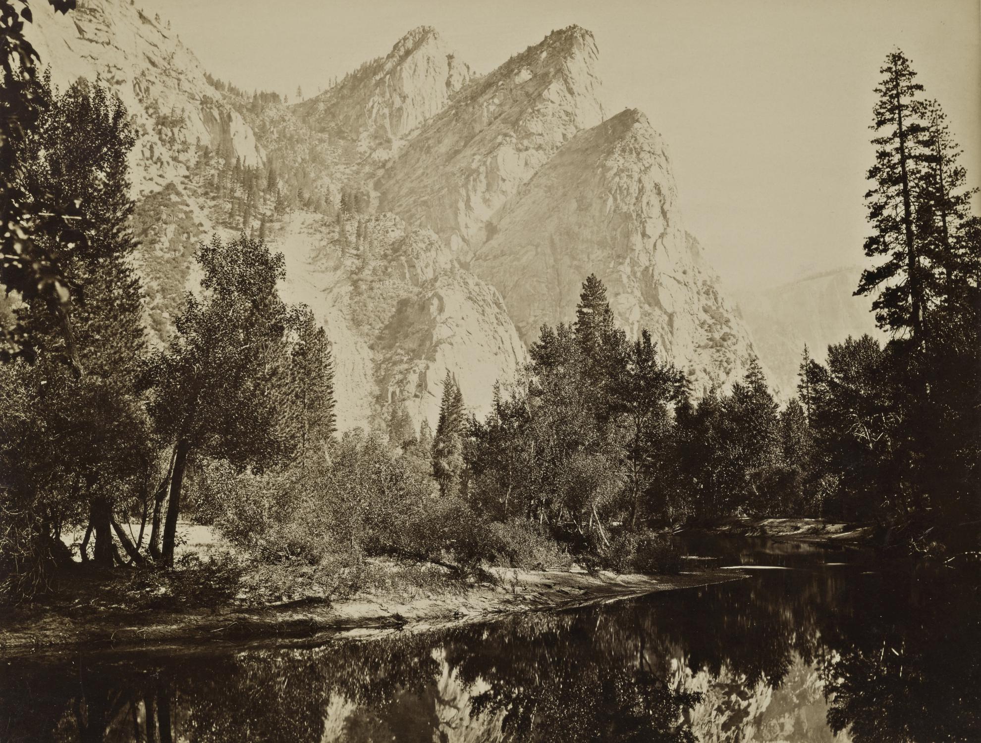 Carleton E. Watkins-Yosemite Valley, The Three Brothers-1866