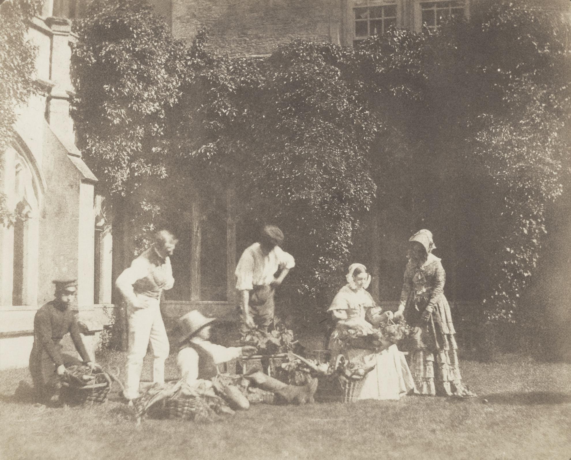 William Henry Fox Talbot-The Fruit Sellers-1845