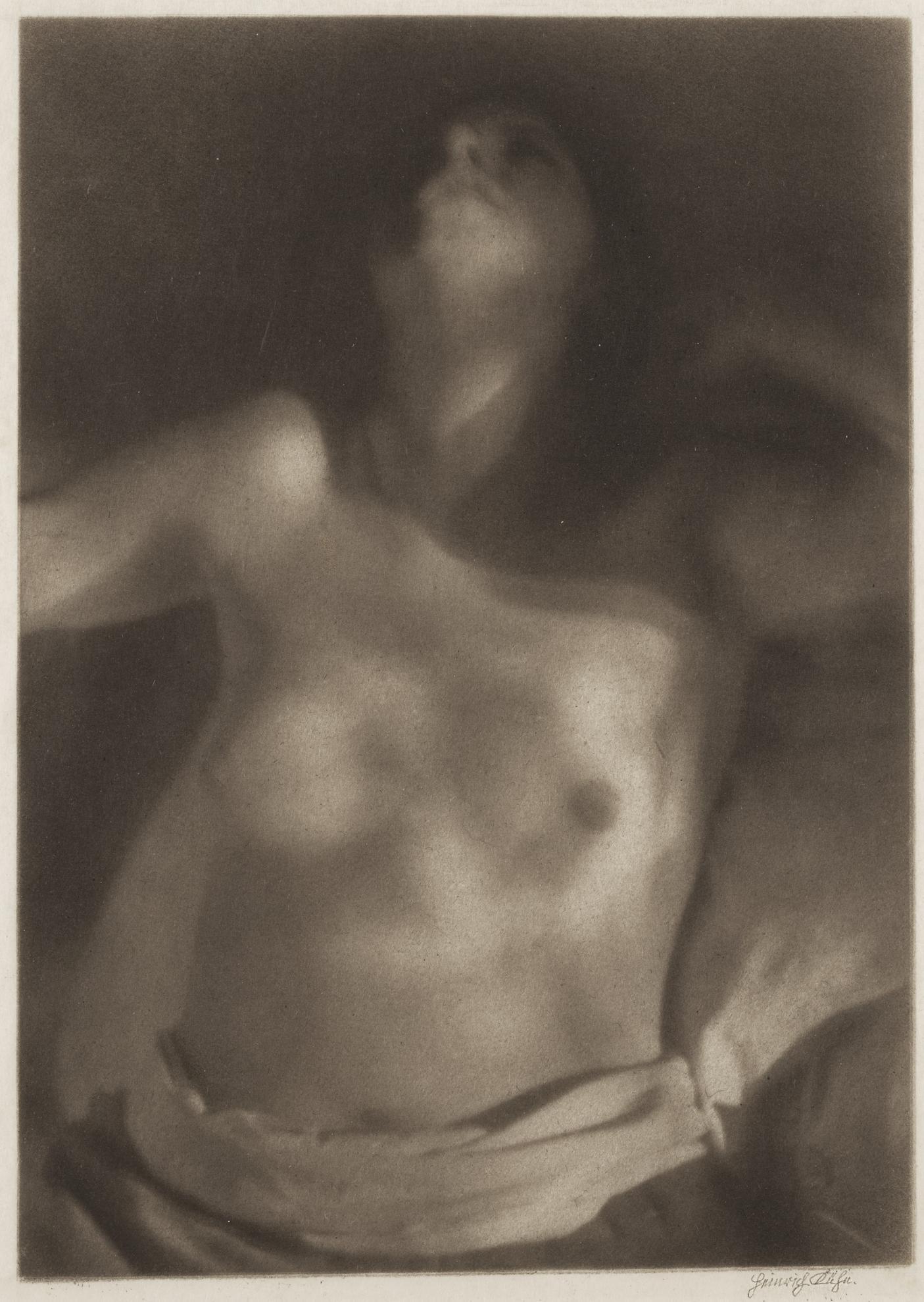Heinrich Kuhn-Female Torso In The Sunlight-1920