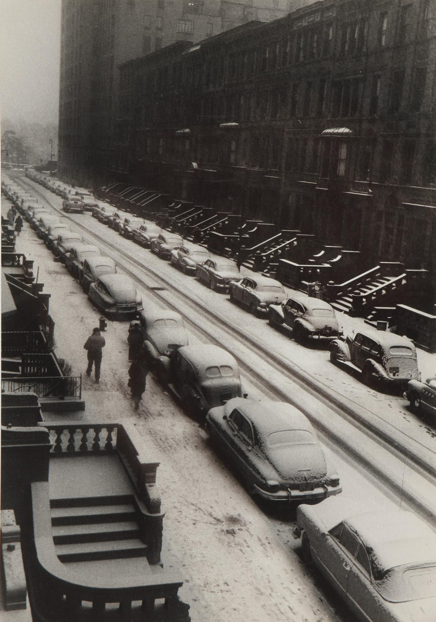 Ruth Orkin-Cars In Snow, West 88Th Street, New York City-1952