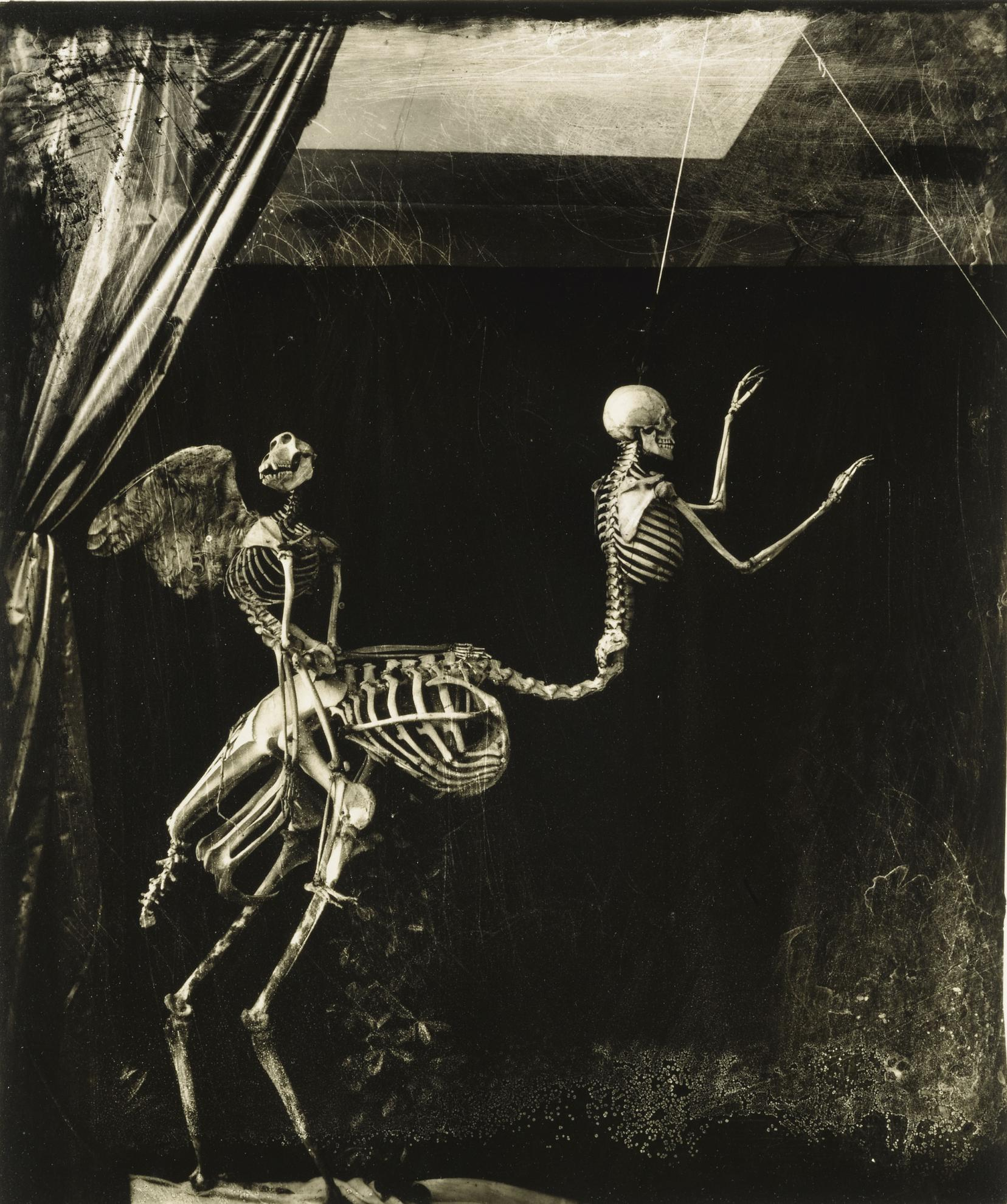Joel-Peter Witkin-Cupid And Centaur In The Museum Of Love-1992