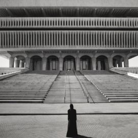 Shirin Neshat-Soliloquy Series (Figure In Front Of Steps)-1999