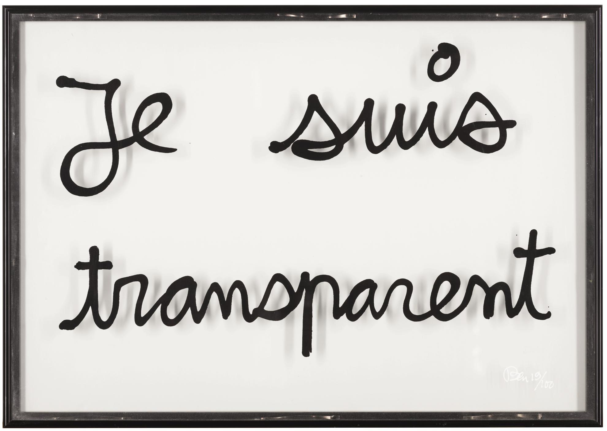 Ben Vautier-Je Suis Transparent-1970