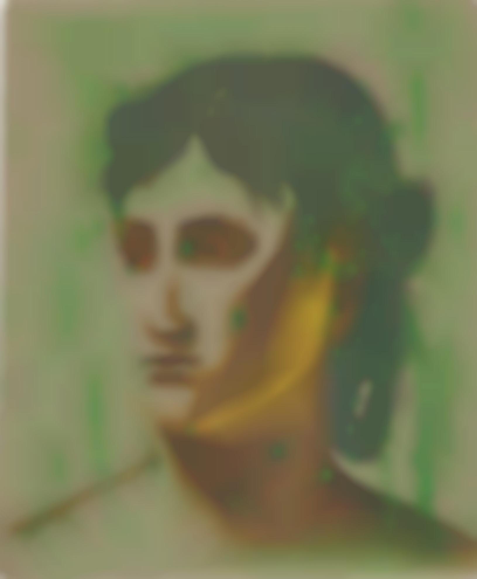 Allison Katz - No Melody Harder (Corot, Green Dots)-2007