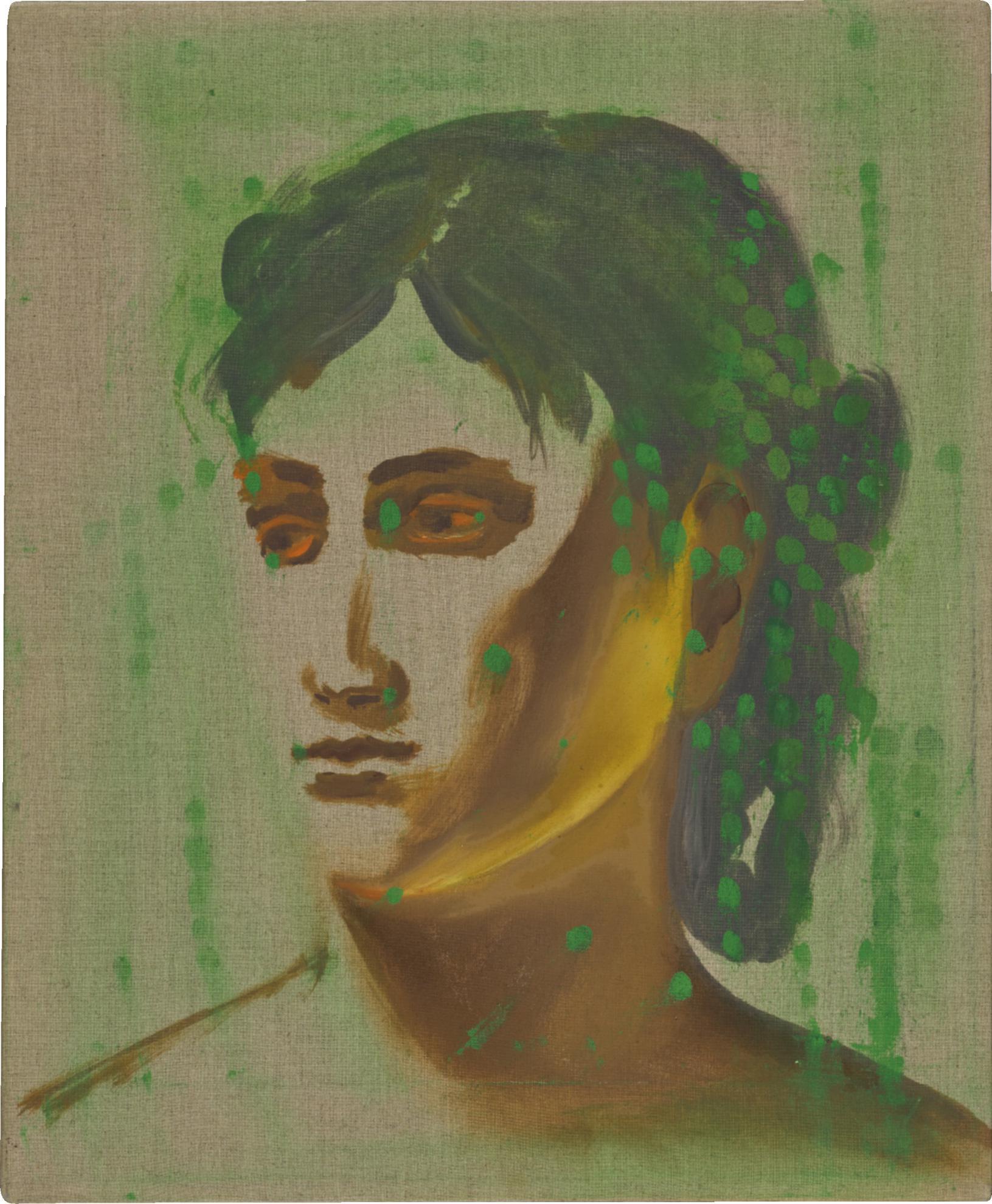 Allison Katz-No Melody Harder (Corot, Green Dots)-2007