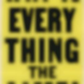 Allen Ruppersberg-Why Is Everything The Same?-1988