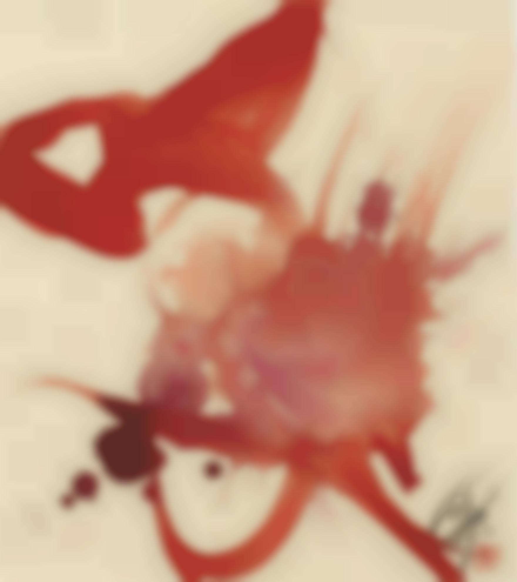 Kazuo Shiraga-Shusin (Red God)-1980