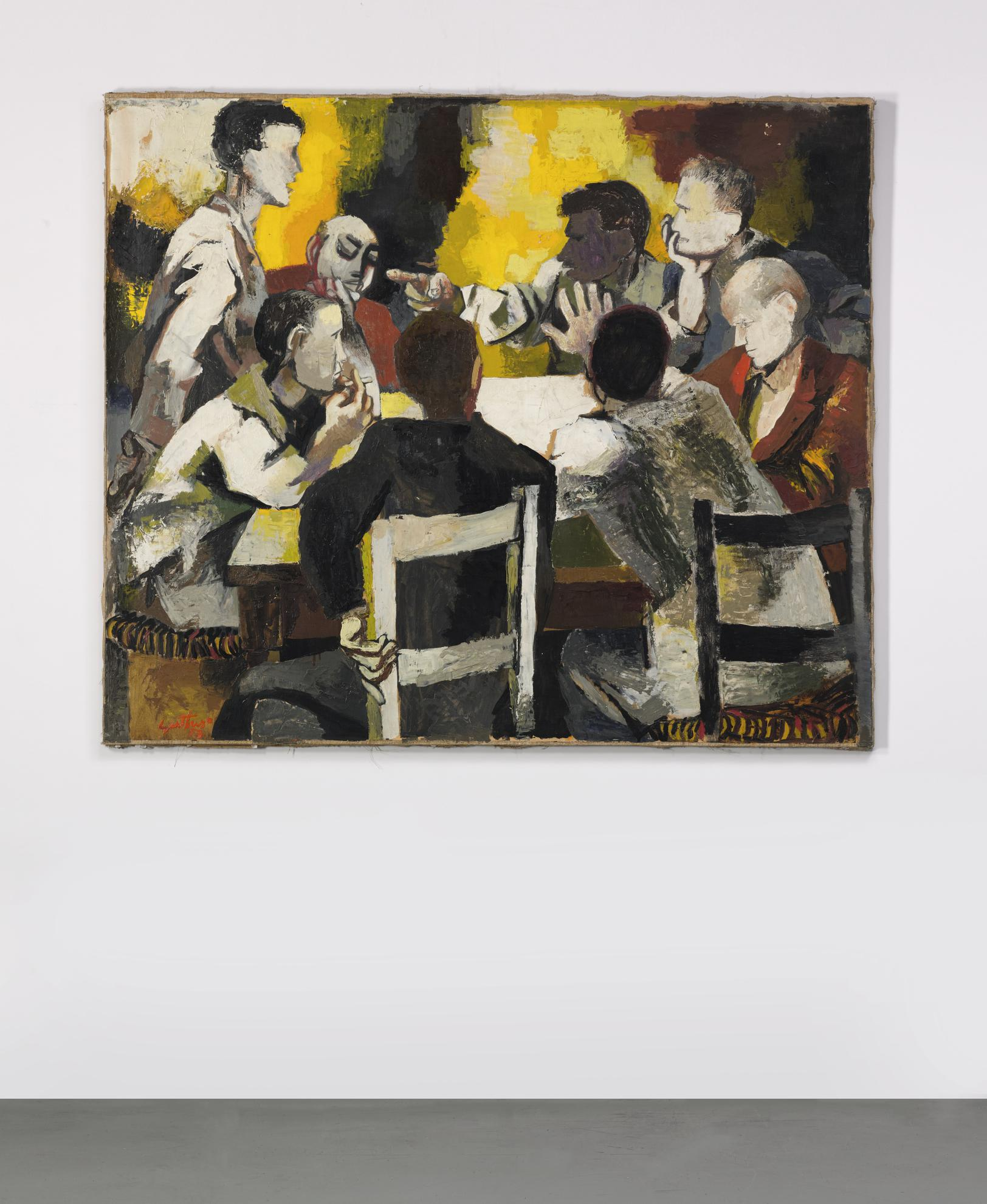 Renato Guttuso-La Discussione-1957