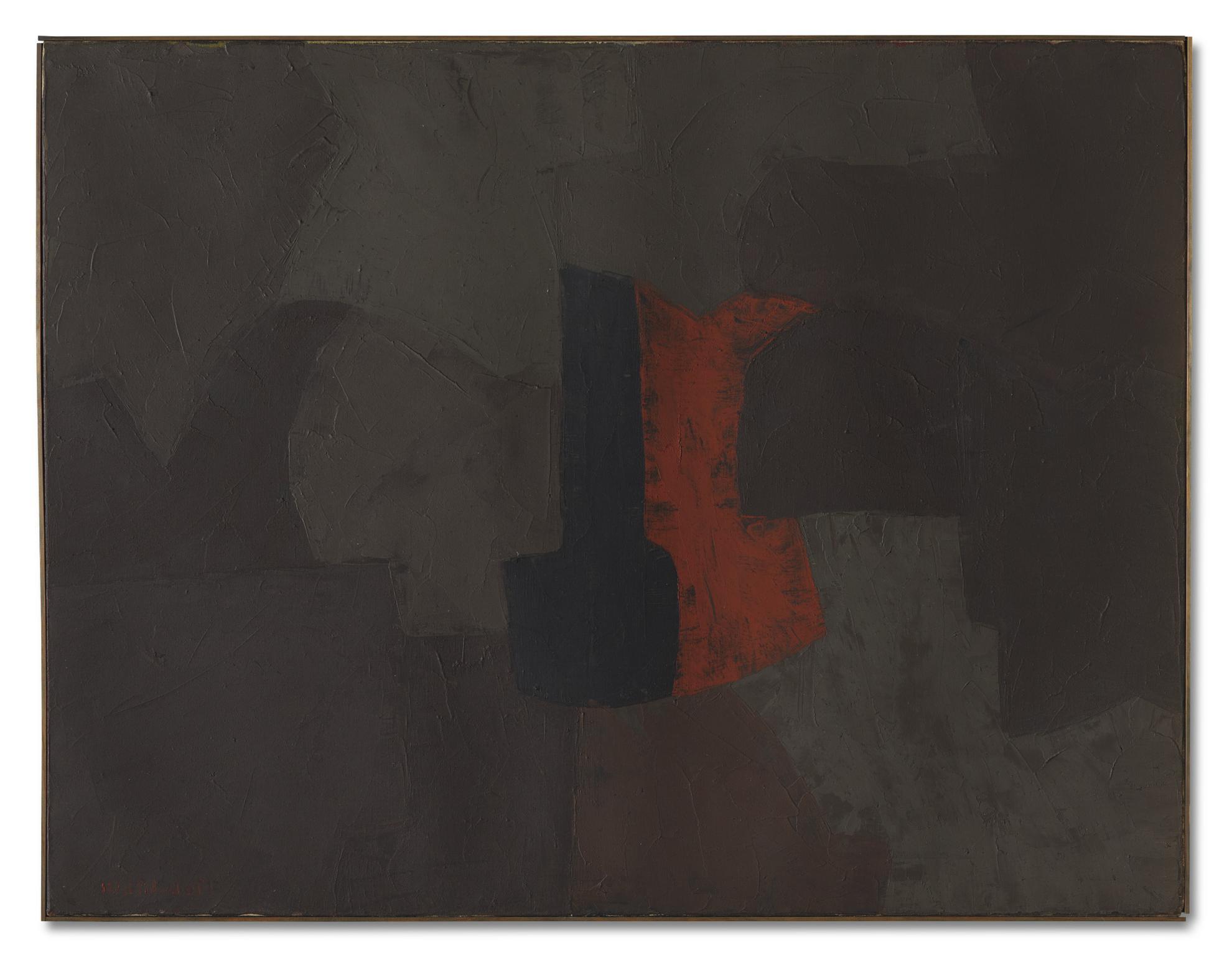 Serge Poliakoff-Gris Brun Noir Rouge-1956