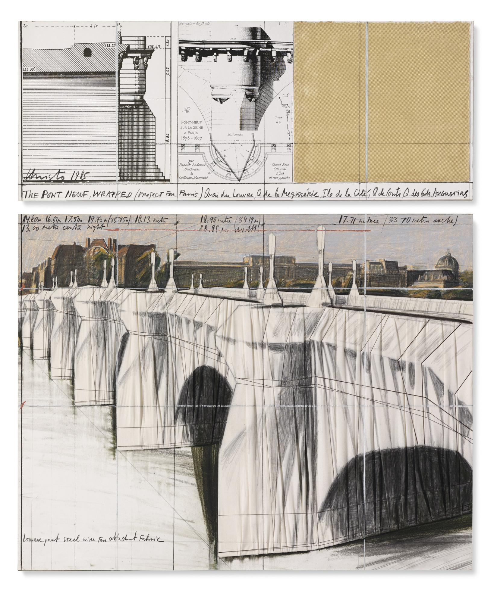 Christo E Jeanne-Claude - The Pont Neuf Wrapped (Project For Paris)-1985