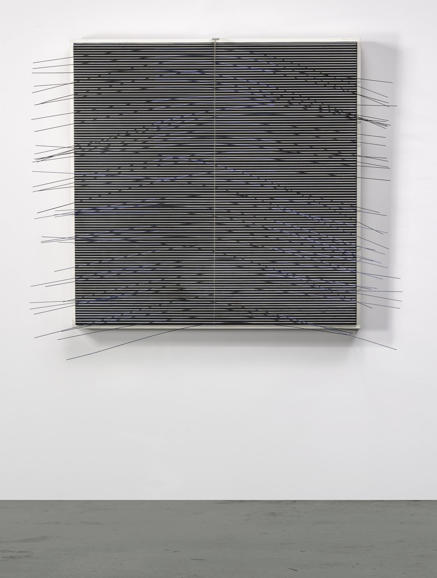 Jesus Rafael Soto-Fines Vibrations En Bleu Et Noir-1974