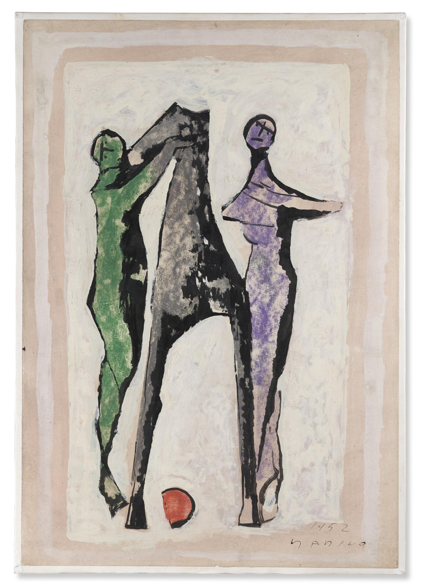 Marino Marini-Giocolieri E Cavallo-1952