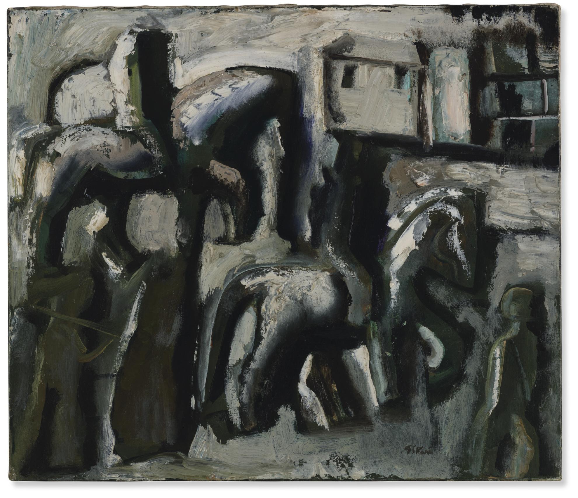 Mario Sironi-Cavalieri-1953